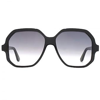 Saint Laurent SL 132 Retro Square Sunglasses In Black