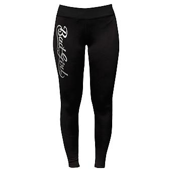Bad Girl Logo Long Fitness Tights - Black