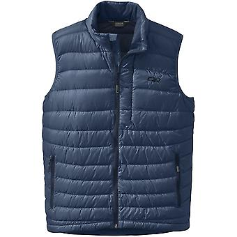 Outdoor Research Mens Transcendent Down Vest Dusk/Night (X-Large)