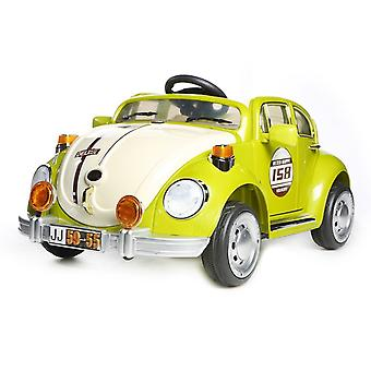 Retro Beetle Electric Ride On Car with Parental Remote Control Green