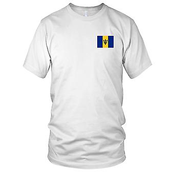 Barbados Country National Flag - Embroidered Logo - 100% Cotton T-Shirt Mens T Shirt