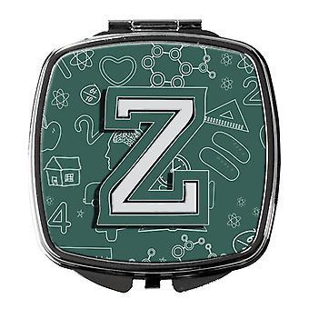 Carolines tesoros CJ2010 ZSCM letra Z a escuela espejo compacto inicial