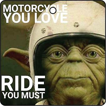 Yoda Motorcycle Ride Car Air Freshener