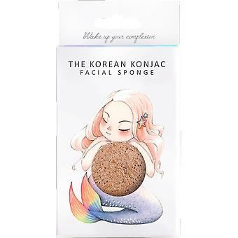 The Konjac Sponge Company Mythical Creatures Mermaid Sponge with Pink French Clay