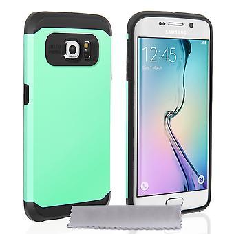 Caseflex Samsung Galaxy S6 Edge Tough Armor - Mint Green Case