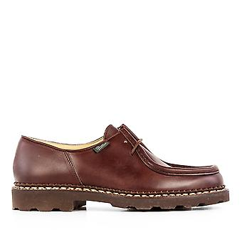 Para boot men's 715612BLACK brown leather lace-up shoes