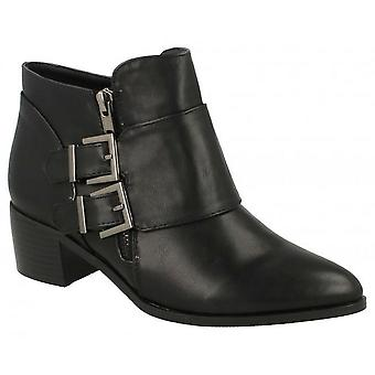 Spot On Womens/Ladies Buckle Detail Ankle Boots