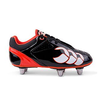 CCC phoenix club 6 stud junior rugby boots black/white/red]