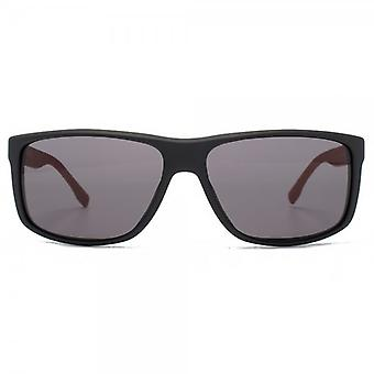Hugo Boss Square Wrap Sunglasses In Black Carbon Grey