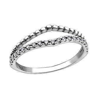 Pattern - 925 Sterling Silver Jewelled Rings - W29227X