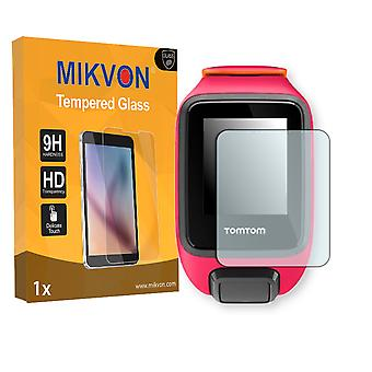 TomTom Runner 3 Screen Protector - Mikvon flexible Tempered Glass 9H (Retail Package with accessories)
