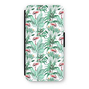 iPhone 7 フリップ ケース - フラミンゴ葉します。