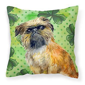 Brussels Griffon St Patrick's Fabric Decorative Pillow