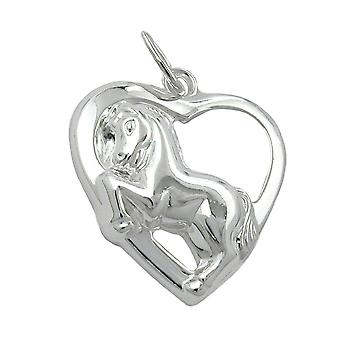 With 925 silver horse heart pendant