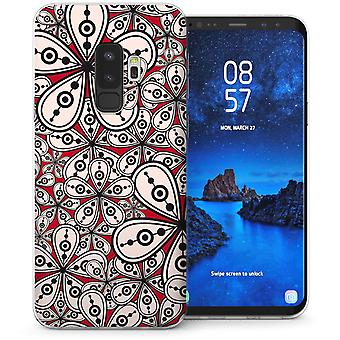 Samsung Galaxy S9 Plus Floral Psychedelia TPU Gel Case – Red