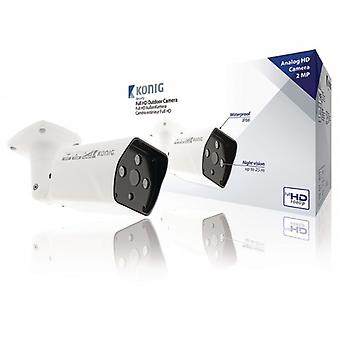 König Full HD Bullet Camera IP66 White