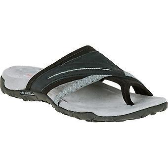 Merrell Womens/Ladies Terran Post II Slip On Leather Walking Sandals