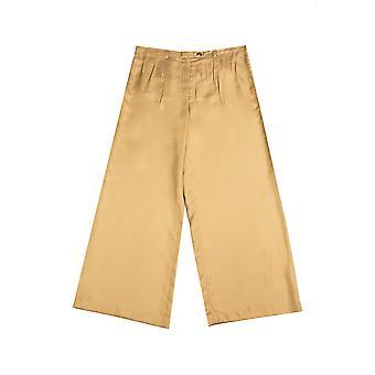 Prada Women's zijde broek broek bruin