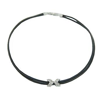Skagen ladies chain necklace leather stainless steel JNLB015