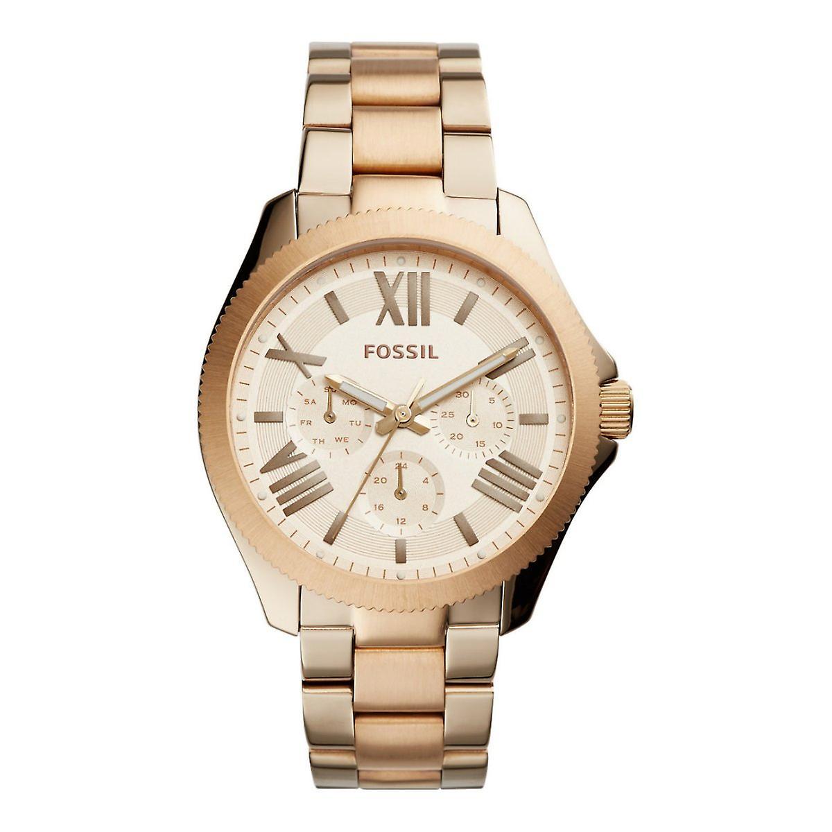 Fossiles MesLes dames montre en acier inoxydable de montre-bracelet Rosé AM4634 CÉCILE