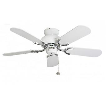 Ceiling Fan Capri White & Stainless 91.4 cm / 36
