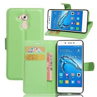 Tasche Wallet Premium Grün für Huawei Honor 6C Schutz Hülle Case Cover Etui Neu