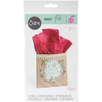Sizzix Thinlits Dies By Katelyn Lizardi 2/Pkg-Hello Beautiful