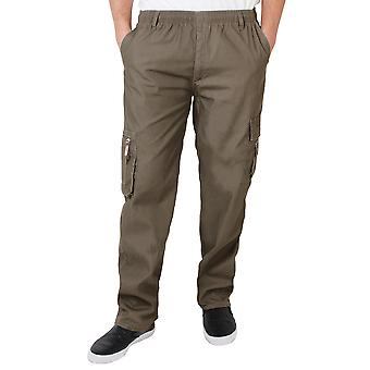 KRISP  Mens Army Cargo Combat Military Trousers Pants Plain Casual Work Waist 28