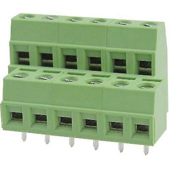 Degson DG127A-5.08-06P-14-00AH Screw terminal 2.08 mm² Number of pins 6 Green 1 pc(s)