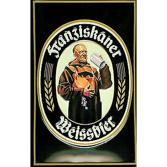 Franziskaner Weissbier Embossed Steel Sign 300Mm X 200Mm