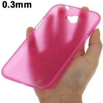 Schutzhülle Case Ultra Dünn 0,3mm für Handy Samsung Galaxy Note 2 N7100 Pink Transparent