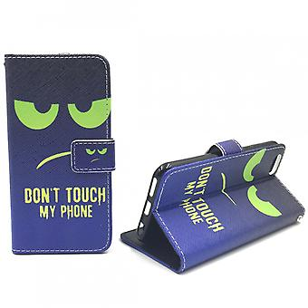 Mobile phone case pouch for phone Apple iPhone 6 / 6s dont touch My Phone Grün