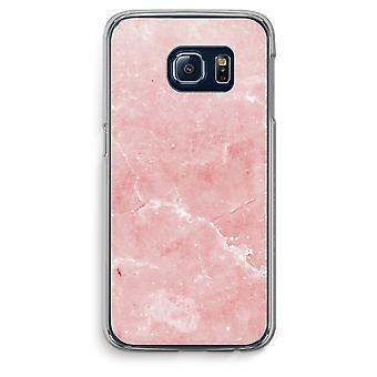 Custodia trasparente Samsung Galaxy S6 Edge (Soft) - marmo rosa