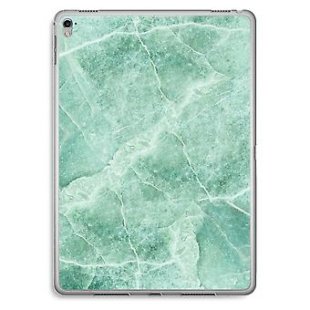 iPad Pro 9,7 inch Transparent Case (Soft) - Green marble
