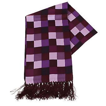 Knightsbridge Neckwear Squares Aviator Scarf - Purple
