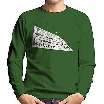Manchester Road Signs 1985 Men's Sweatshirt