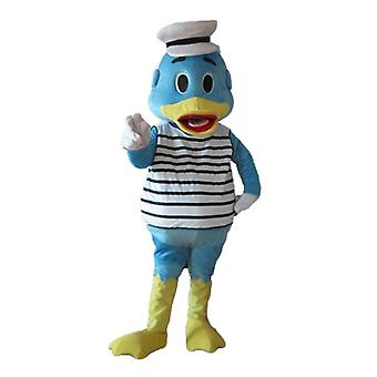 SPOTSOUND of blue and Yellow Duck mascot, dressed as a sailor