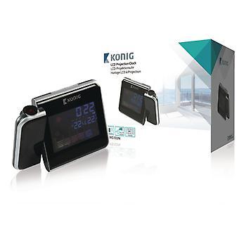 König WS103N LCD Projectieklok met Weersvoorspelling