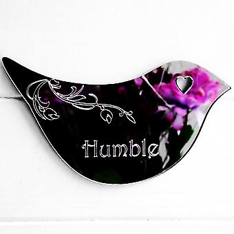 Floral Dove Acrylic Mirror Door or Wall Sign - HUMBLE