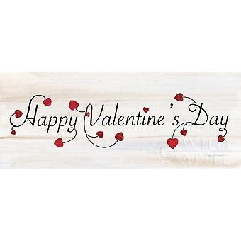 Rustic Valentine Saying I Poster Print by Kathleen Parr McKenna