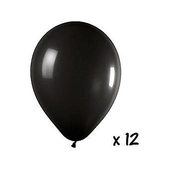 Balon i balon akcesoria 12 czarne balony