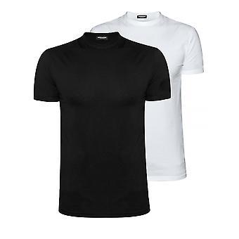 DSQUARED2 Underwear DSQUARED2 Black & White Twin Pack T-Shirt Set
