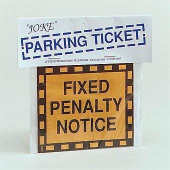 تذكرة وقوف السيارات مزحة.