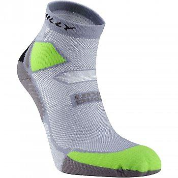 Skyline Anklet Running Socks Grey/LimeGreen/Black
