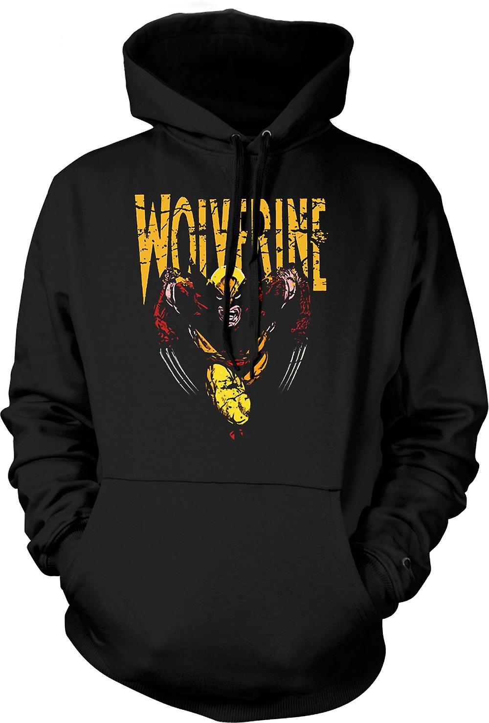 Mens Hoodie - Wolverine - Classic Comic Hero
