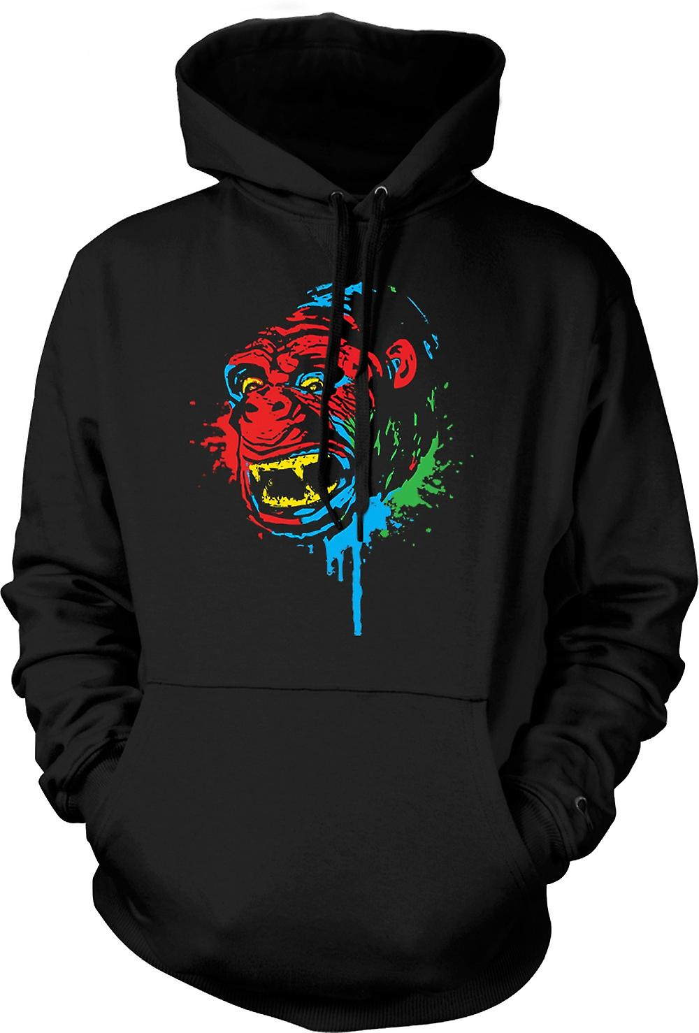 Mens hettegenser - Pop Art - Ape Gorilla - kult Design