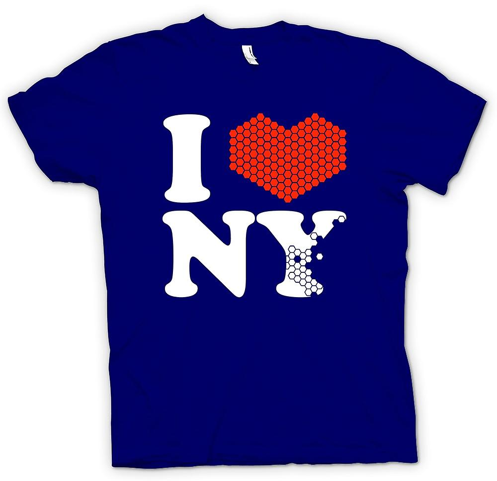 Hommes T-shirt - I Love New York Heart - NY