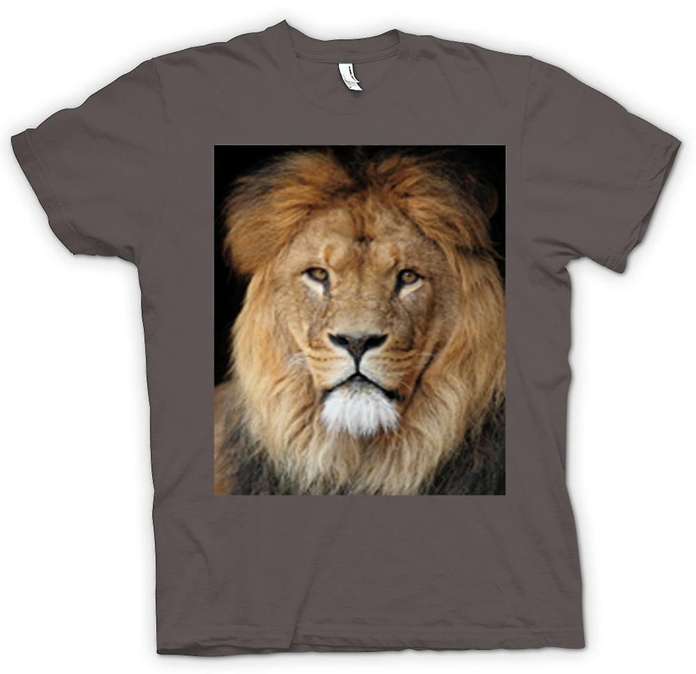 Womens T-shirt - Lion Colour Portrait