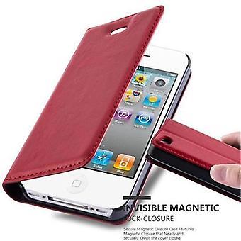 Cadorabo tilfældet for Apple iPhone 4/iPhone 4S sag Cover-telefon tilfældet med magnetisk lukning, stativ funktion og kort sag-sag Cover sag sag case sag bog folde stil