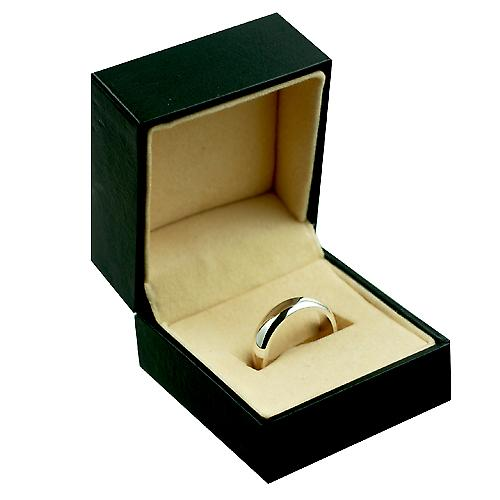 Silver 5mm plain D shaped wedding ring